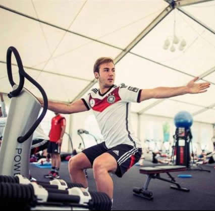World Cup Winning German Squad use Power Plate